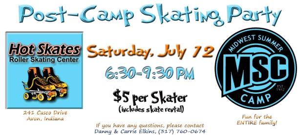 MSC Post-Camp Skating Party 2014