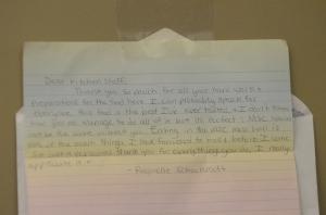 Letter to Kitchen Staff