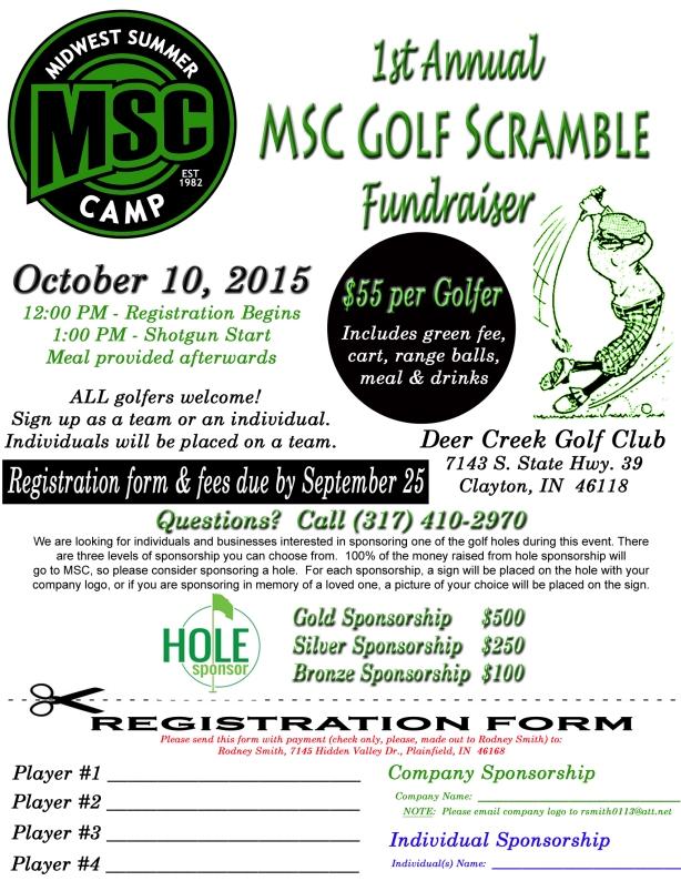 MSC Golf Scramble 2015