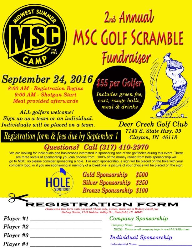 MSC Golf Scramble 2016