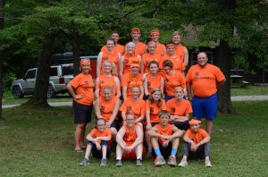 Orange Team, led by Brad & Rhonda Hawk