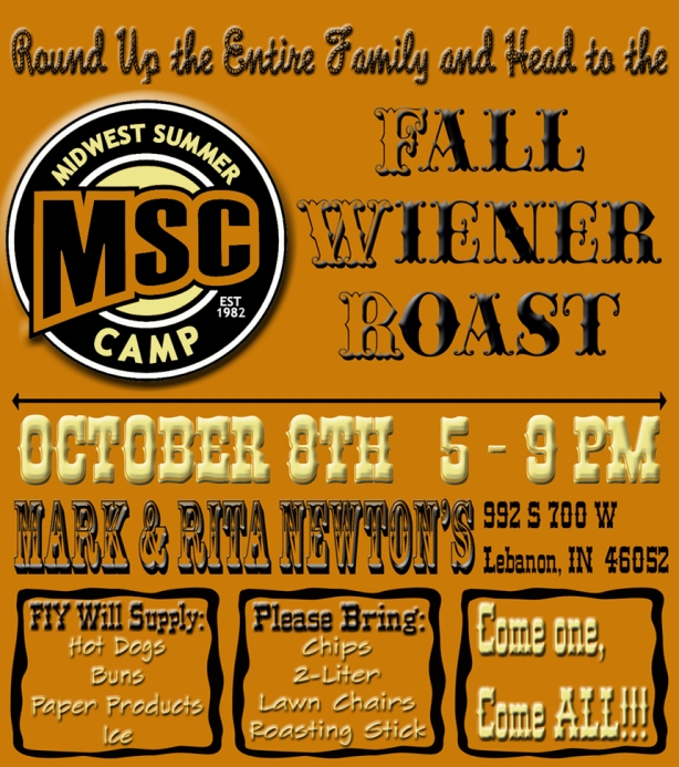 MSC Fall Wiener Roast 2016